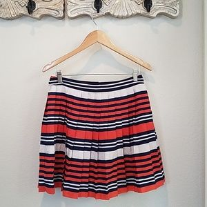 FOREVER21 pleated striped skirt